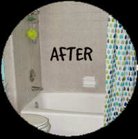 Bathtub Makeover Wizards After Resurfacing in High Point NC