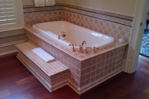 Example of a bathtub surround
