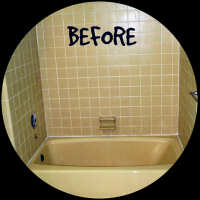 Bathtub Makeover Wizards Before Resurfacing in Palm Beach Gardens FL
